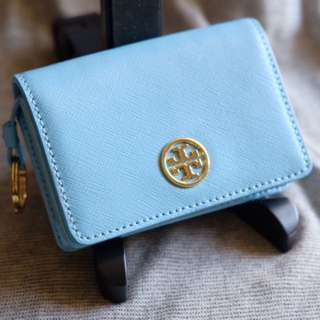 Tory Burch baby blue 天藍色 Card Case/ Coin Case 正品 99% New