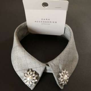 Final Price ZARA Accessories Gray Bejewelled Collar