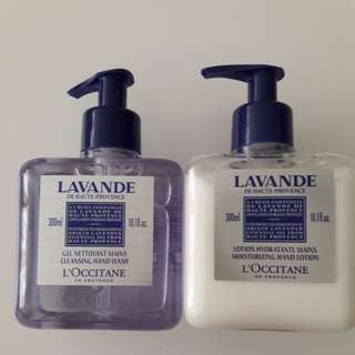 L'OCCITANE Hand Lotion and Hand Wash 300ml each