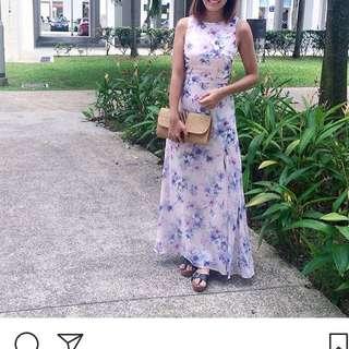 TCL floral maxi dress (lilac/pastel purple)
