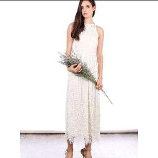 TSWWhite Lace Maxi Dress