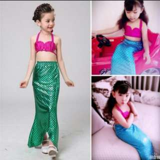 Mermaid Costume Kids Swim Wear Birthday Theme