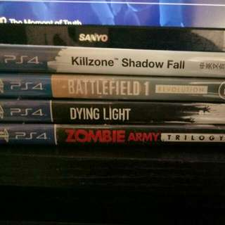 Battlefield $45 Dying Light $20 Zombie Army Trilogy $15 Killzone Shadow Fall - Sold