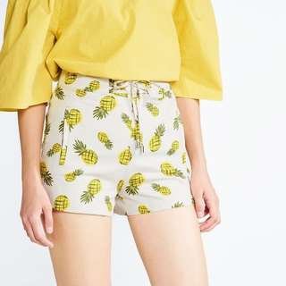 Pomelo High Waisted Pineapple Shorts