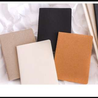 Blank notebook 4 pcs per set