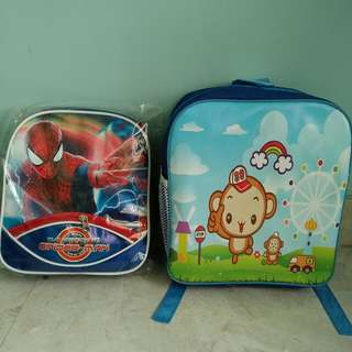 Tas Spiderman & Funny monkey (turun harga)