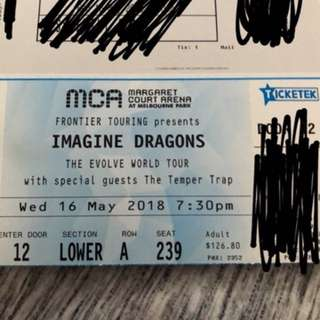Imagine dragons ticket