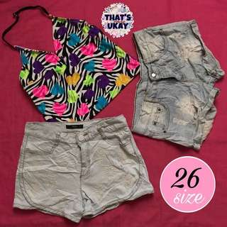 Take all! Small top + denim shorts pack