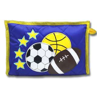 Kids Pouches with 3 compartments Theme - Sports Blue star