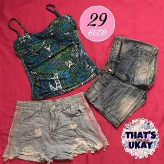Take all! Medium top + denim shorts pack