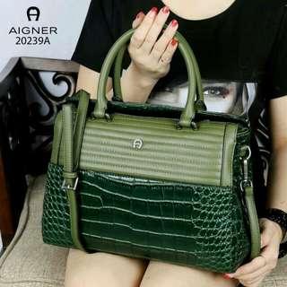 Original Aigner Croco Bag (Green)