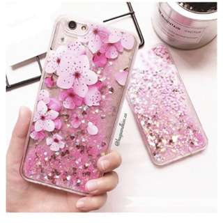 Quicksand Floral Glitter iPhone 7 Case (3 for 1!)