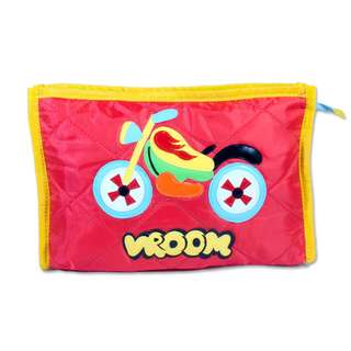 Kids Pouches with 3 compartments , Theme - Bike