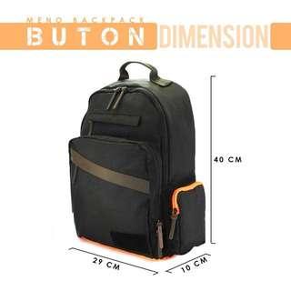 MENO buton fit laptop backpack orange