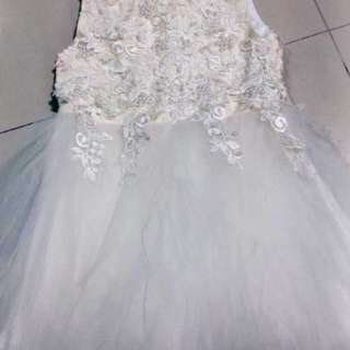 White Wedding Gown for Flower Girl