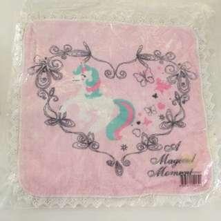 Unicorn pink lace handkerchief