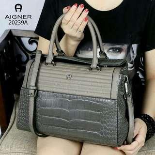 Original Aigner Croc Bag (Grey)