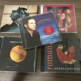 5 English CD (All for $10)