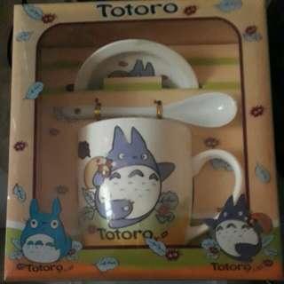 Titoro 豆豆龍  龍貓 陶瓷杯帶蓋帶杓禮盒組
