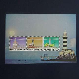 SGMS 82. 1982-08-07 Lighthouses of Singapore Mint Miniature Sheet. 5L.AO