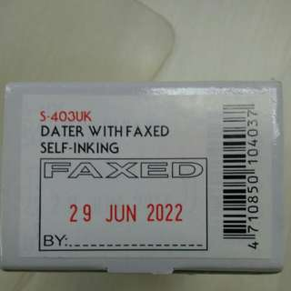 "Self inking stamp ""FAXED"""