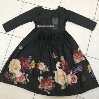 NEW (S) LEEYANARAHMAN KIDS VINTAGE DRESS
