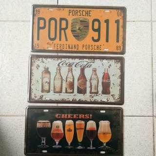 Decorative Metal Plates Vintage