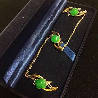 Ca. Late 1940-1950's Old Straits Chinese Peranakan Kerosang Pure Silver - Gilt Gold Vintage Jewellery.
