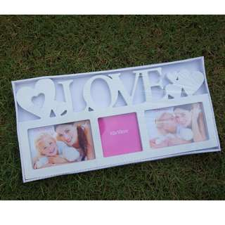 🌹LOVE White Photo Frame (3 slots) #bajet20