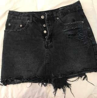 Ksubi Skirt Black Denim