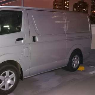 Van for rent w/driver