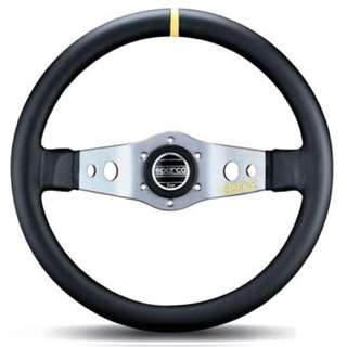 Original Sparco Steering Wheel with HKB Bosskit for Suzuki Swift Sport ZC31S