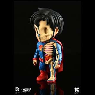"Jason Freeny's Mighty Jaxx XXRAY DC Comics Vinyl 4"" Superman"