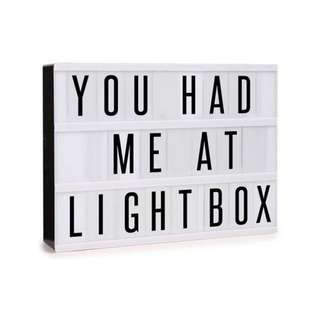 A4 light box for parties / showcase