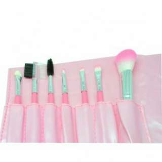 Brush Make Up 7 Set with Pouch - Pink
