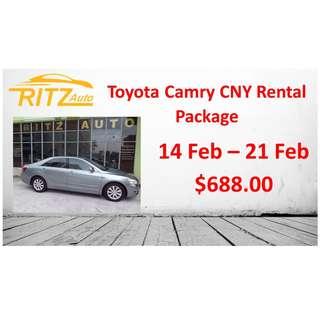 Toyota Camry 2.0A CNY Rental