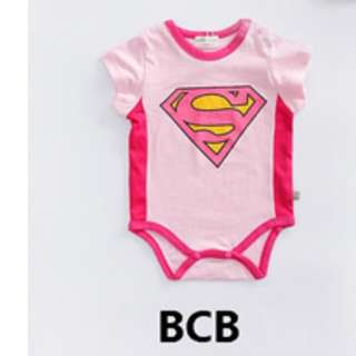 size 80 baby girl supergirl baby rompers in pink toddler new born baby