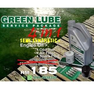 GREENLUBE Semi Sync Service Package for Perodua Car