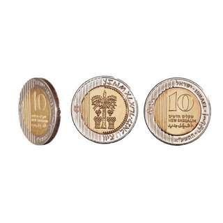 💯 Israel 10NIS Shekel Coin