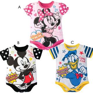 donald duck size 80 and minnie mouse size 95 only. baby boy and girl rompers for baby new born toddler