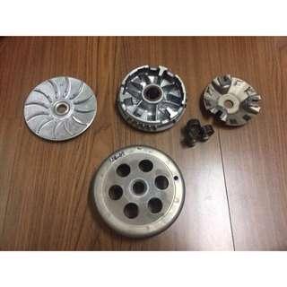 🚚 山葉 YAMAHA 2JS 原廠普利盤。普利珠。壓板。滑件。碗公