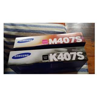 Samsung Toner for CLP325  M407s & K407S Magenta & Black