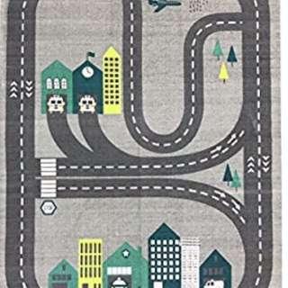 "BRAND New Spura Home 3'x4'5"" Roadmap Kids Rug"