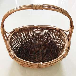 Rattan Fruit Hamper Basket