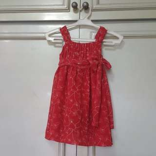 Periwinkle Red Dress