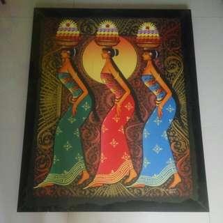 Lukisan Wanita Bali