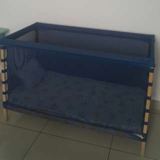 Ikea Baby Crib+ Mattress+bedsheet+pillow only used 8 months