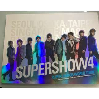 Super Junior Super Show 4 Photo book 連 SS4 Poster