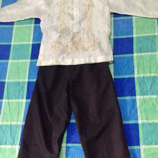 Complete Set Barong!Camiso de Chino/Slacks