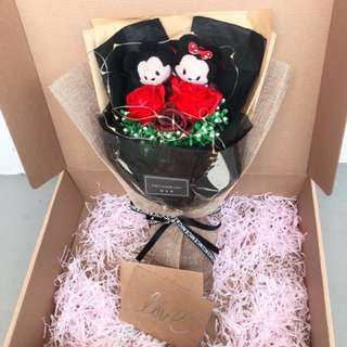 ❤️Mickey and Minnie tsum tsum bouquet | led light | with gift box